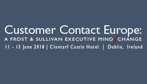 Frost and Sullivan -- Customer Contact Europe